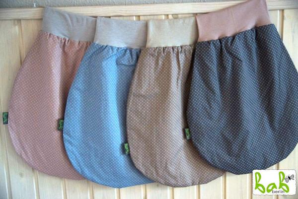 ❤️ 0-6 Monate Handmade Strampelsack für Sommer/Winter, Baby Pucksack Schlupfsack punkte