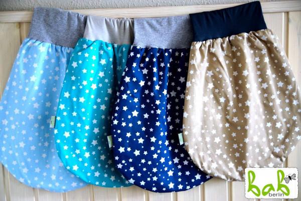❤️ 0-6 Monate Handmade Strampelsack für Sommer/Winter, Baby Pucksack Schlupfsack Sterne