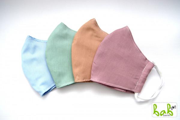 Stoffmaske für den Nasen-Mund-Bereich 3-lagig mit Filtertasche