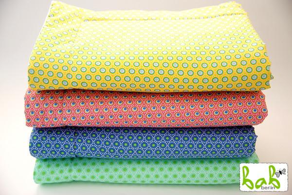 Baby Decke Kuscheldecke in Rosa Blau Grün Gelb für Mädchen oder Jungen, ganzjährig, leicht gefüttert