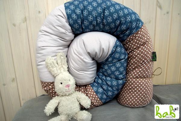 Bettrolle, Puckschnecke, Schlangenrolle fürs Babybett Handmade in Berlin