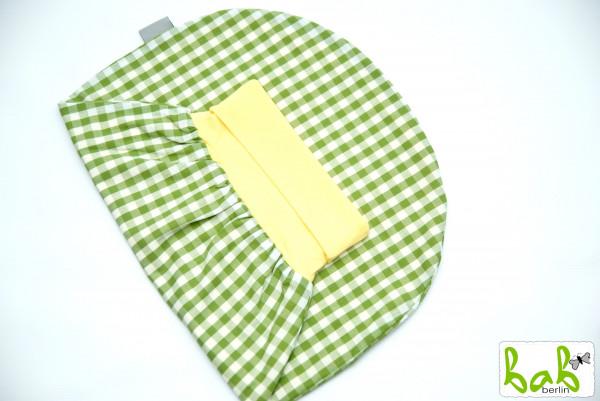 Strampelsack Baby 0-6 Monate Pucksack Schlafsack gefüttert oder ungefüttert Karo Grün