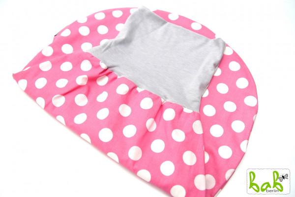 Strampelsack Baby 0-6 Monate Pucksack Schlafsack gefüttert oder ungefüttert in Rosa Punkte
